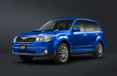 Forester tS WR blue mica спереди