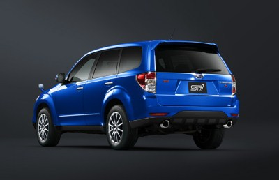 Forester tS WR blue mica сзади