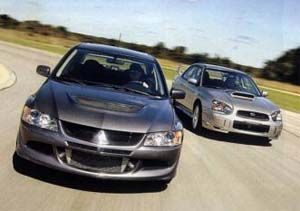 Mitsubishi Lancer Evolution MR VS Subaru Impreza WRX STi (USA)