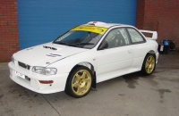 Subaru Impreza WRC plain body white