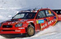 Subaru Impreza WRC Red Devil K.Lindstrom K.Solberg Rally Sweden 2006