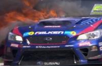 Subaru STI NBR Challenge 2017 пожар