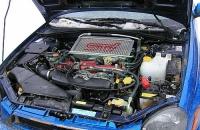 Subaru Impreza WRX STI Prodrive style подкапотное пространство